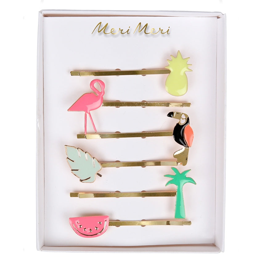 Meri Meri Hair Clips Tropical Enamel