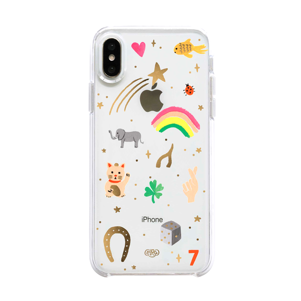 Rifle Paper Co iPhone X/XS Hard Case Clear Good Luck Charms