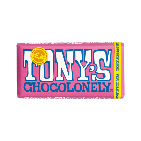 Tony's Chocolonely 180g White Chocolate Raspberry Popping Candy
