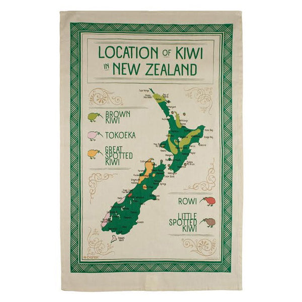 Location of Kiwi Tea Towel
