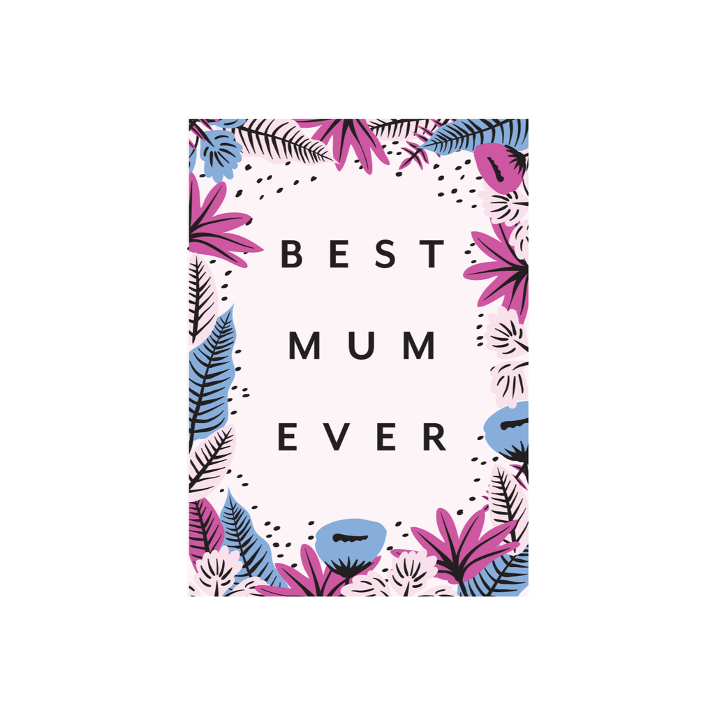 Iko Iko Patterned Card Best Mum Ever
