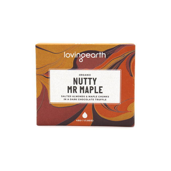 Loving Earth Chocolate 45g Nutty Mr Maple