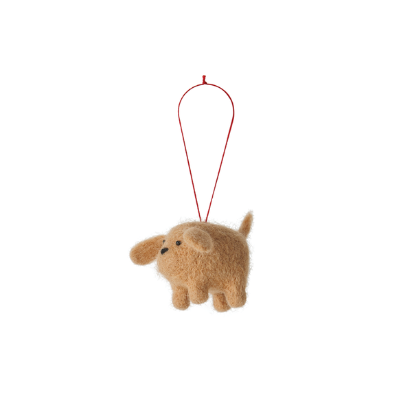 Citta Handmade Woollen Dog Hanging Decoration