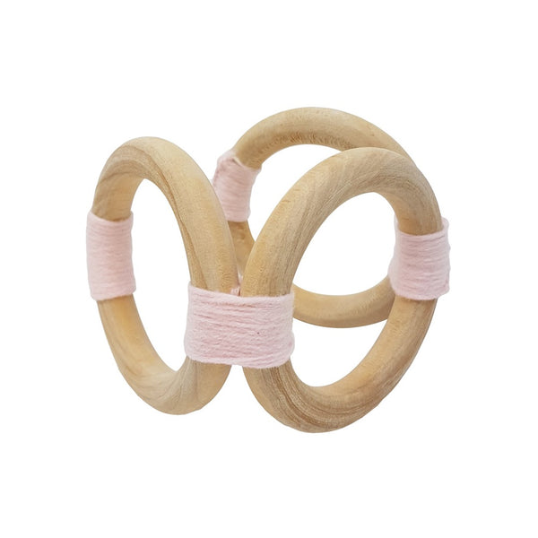 Munch Baby Wooden Soothing Toy Pink