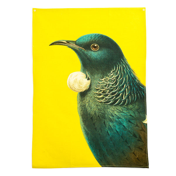 Bird Tea Towel Tui Yellow