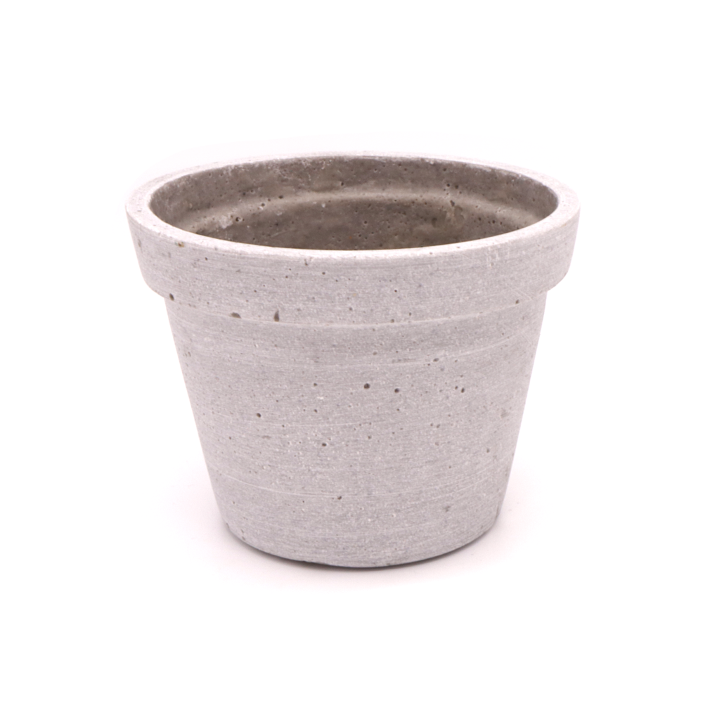 Concrete Taper Cactus Pot with Lip