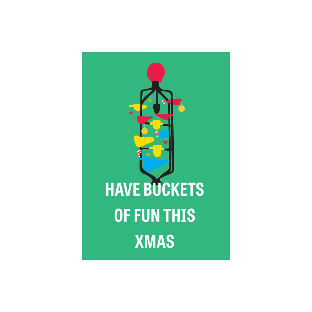Iko Iko Christmas Card Buckets