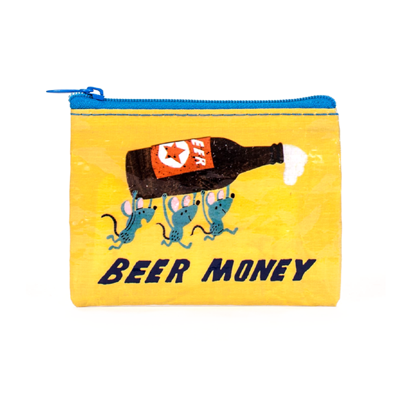 Blue Q Coin Purse Beer Money