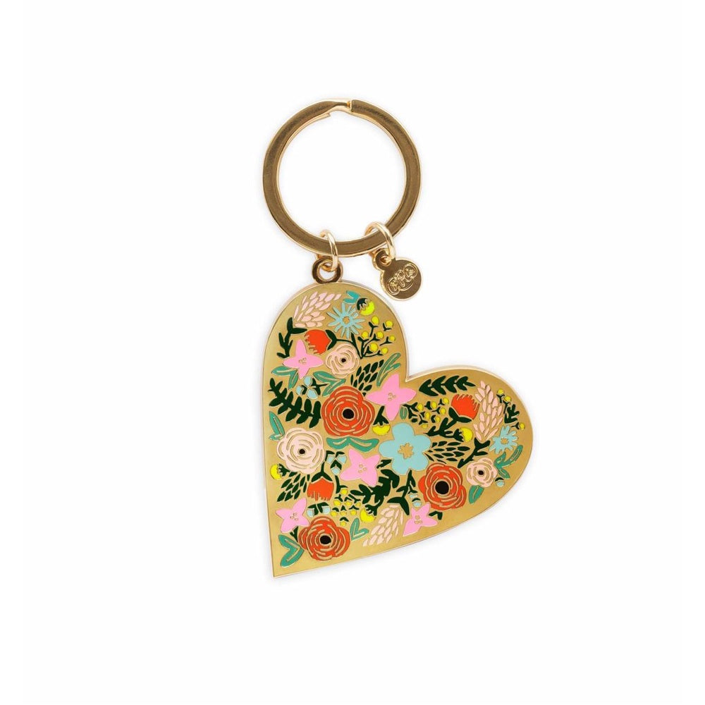 Rifle Paper Co. Enamel Keychain Floral Heart