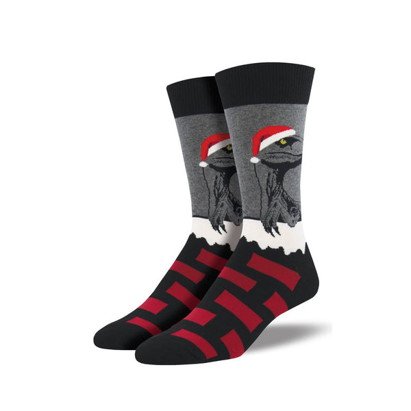 Socksmith Socks Mens Christmas Raptor Claus