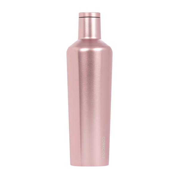 Corkcicle Canteen Drink Bottle 25oz Rose Metallic