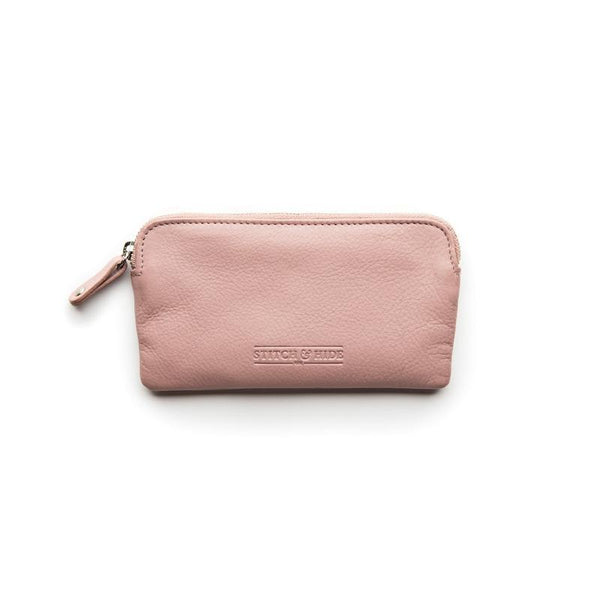 Stitch & Hide Leather Lucy Pouch Dusty Rose