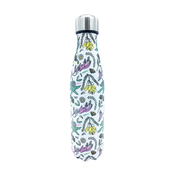 Moana Road Drink Bottle NZ Flowers Print 500ml