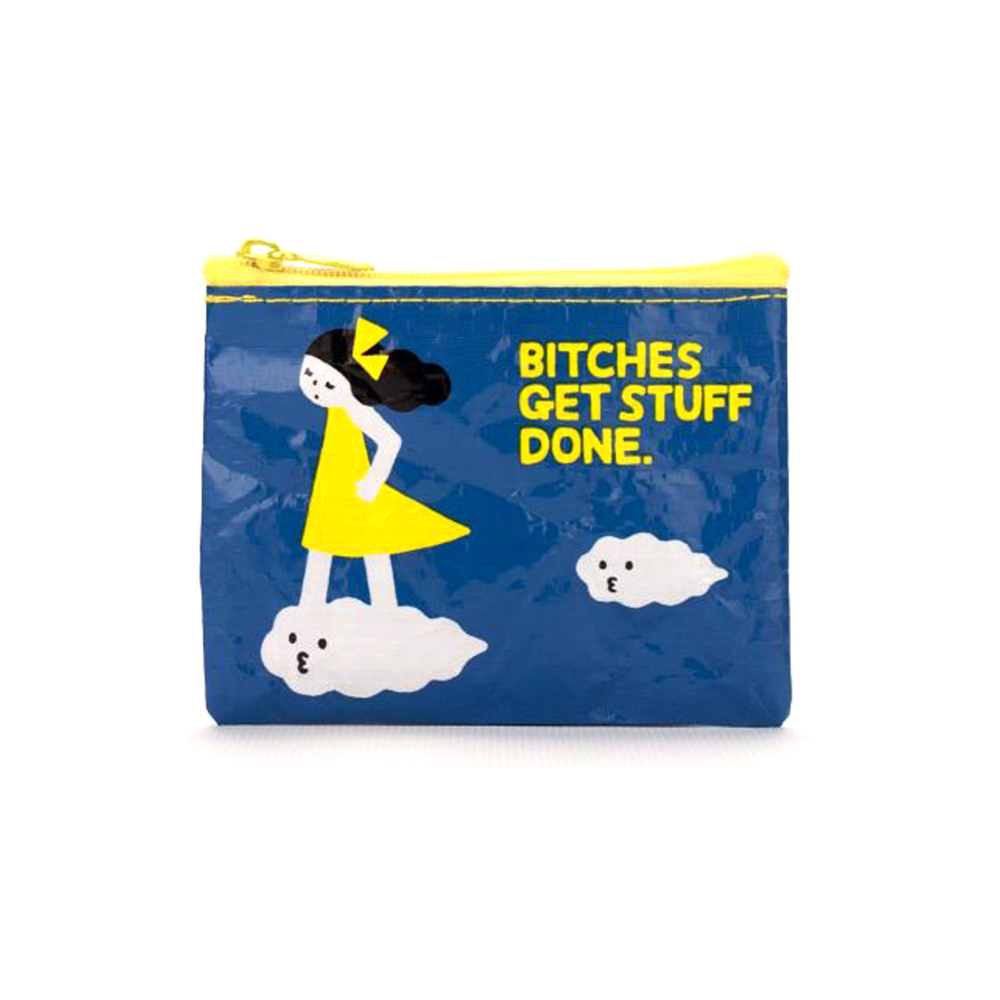 Blue Q Coin Purse Bitches Get Shit Done