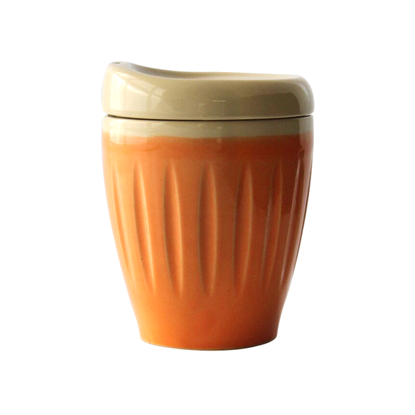 Lyttelton Pottery Deksel Reuseable Cup Orange