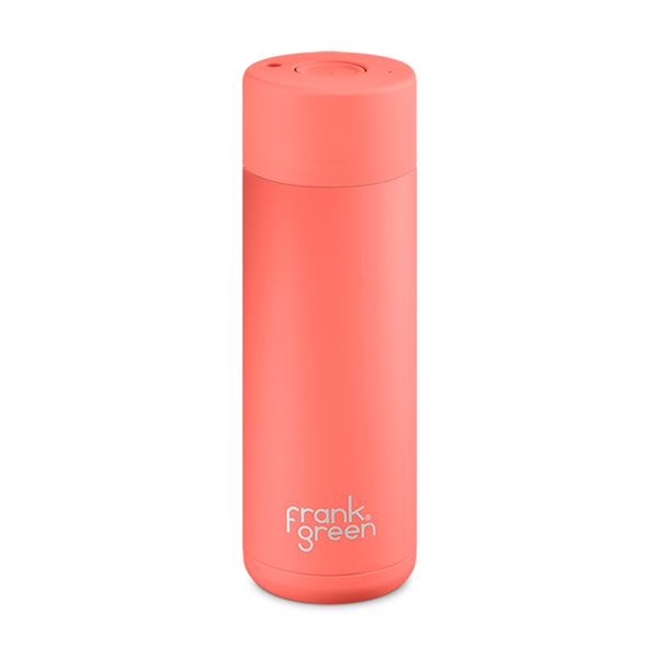 Frank Green Stainless Steel Smart Bottle 20oz Living Coral