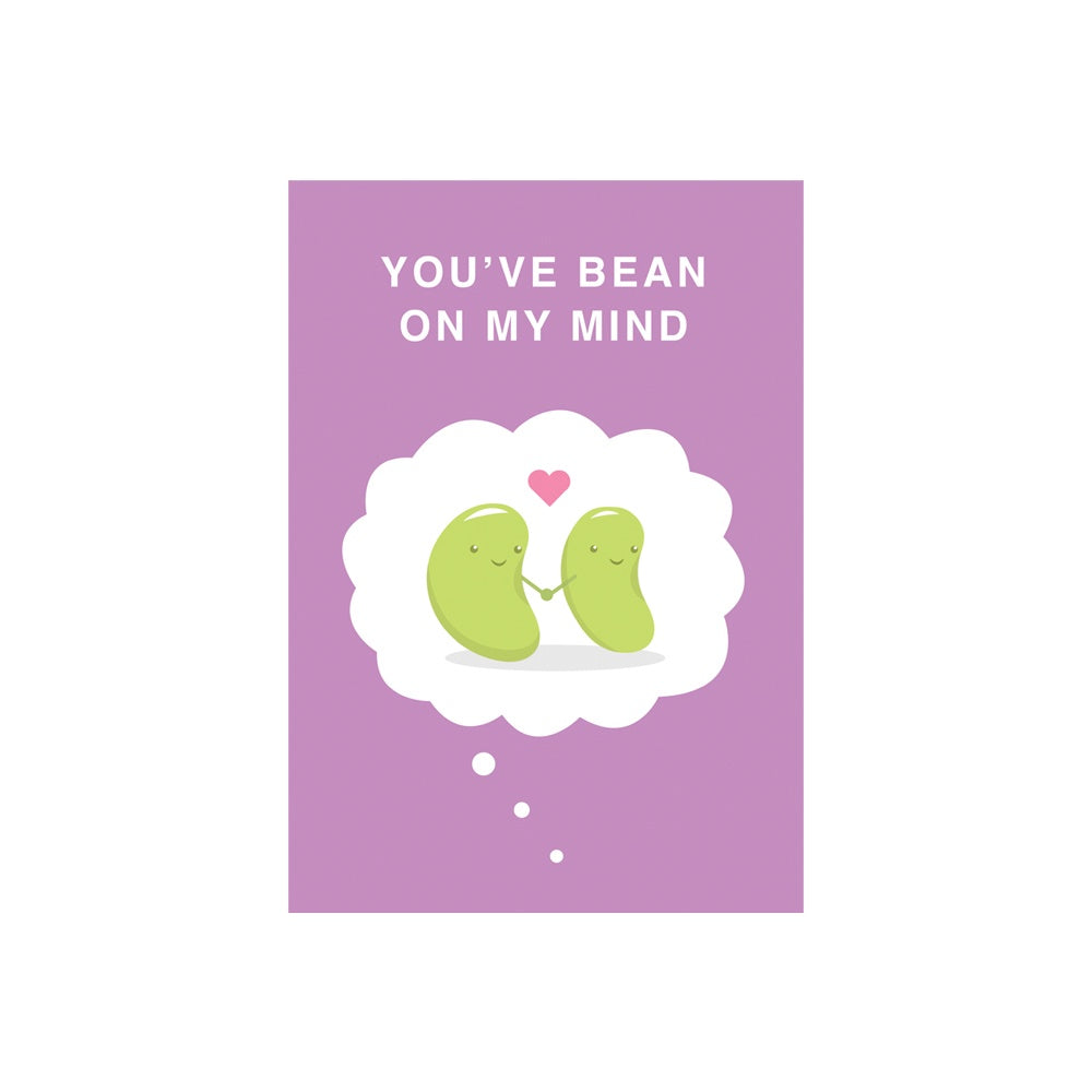 Iko Iko Cutie Food Pun Card Bean