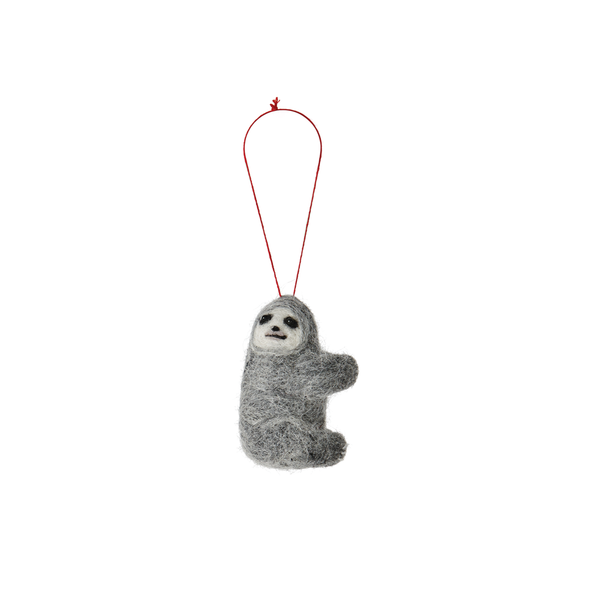 Citta Handmade Woollen Sloth Hanging Decoration