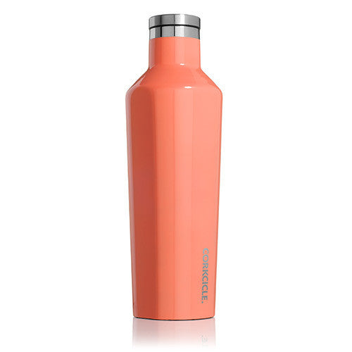 Corkcicle Canteen Drink Bottle 16oz Peach Echo