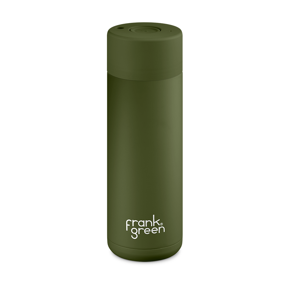 Frank Green Ceramic Smart Bottle 20oz Khaki