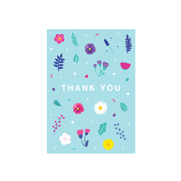 Iko Iko Floral Message Card Wildflowers Thank You