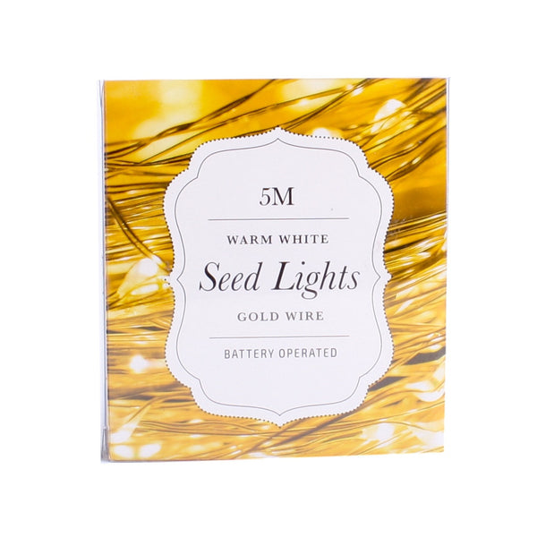 LED Wire Seed Light String 2m Gold Warm White