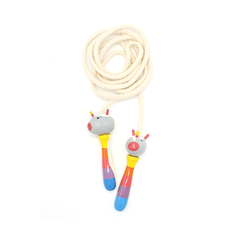 Wooden Skipping Rope Unicorn