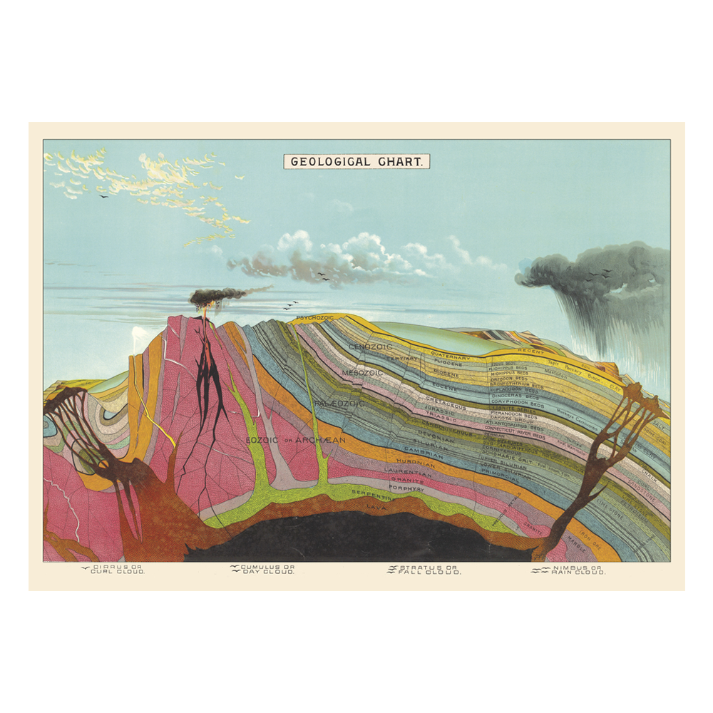 Cavallini Poster Geological Chart