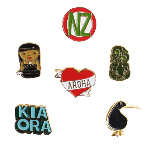 NZ Enamel Pin Assorted