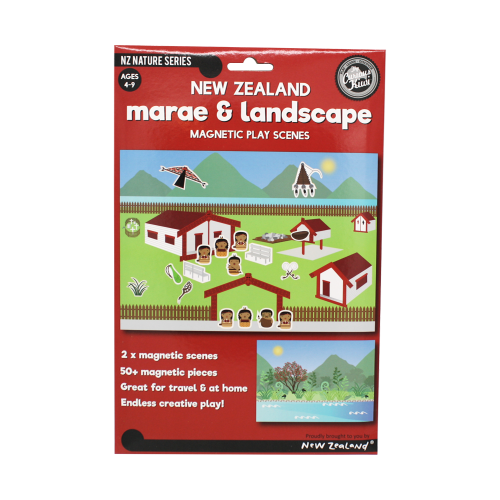 Magnetic Play Scene  Marae	and Landscape