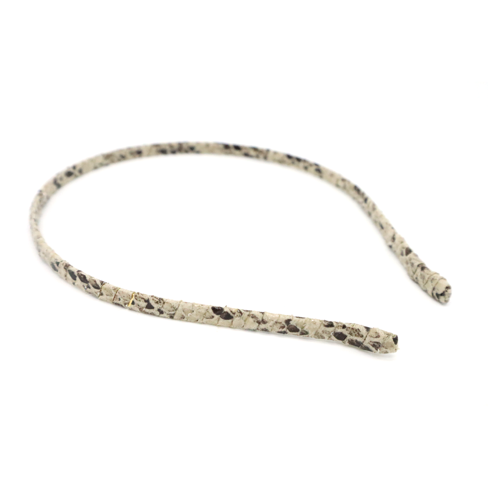 Stella + Gemma Headband Snake Pattern Grey Black