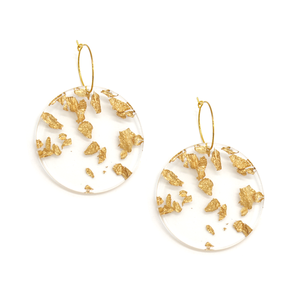 Penny Foggo Earrings Perspecs Circles Gold Leaf