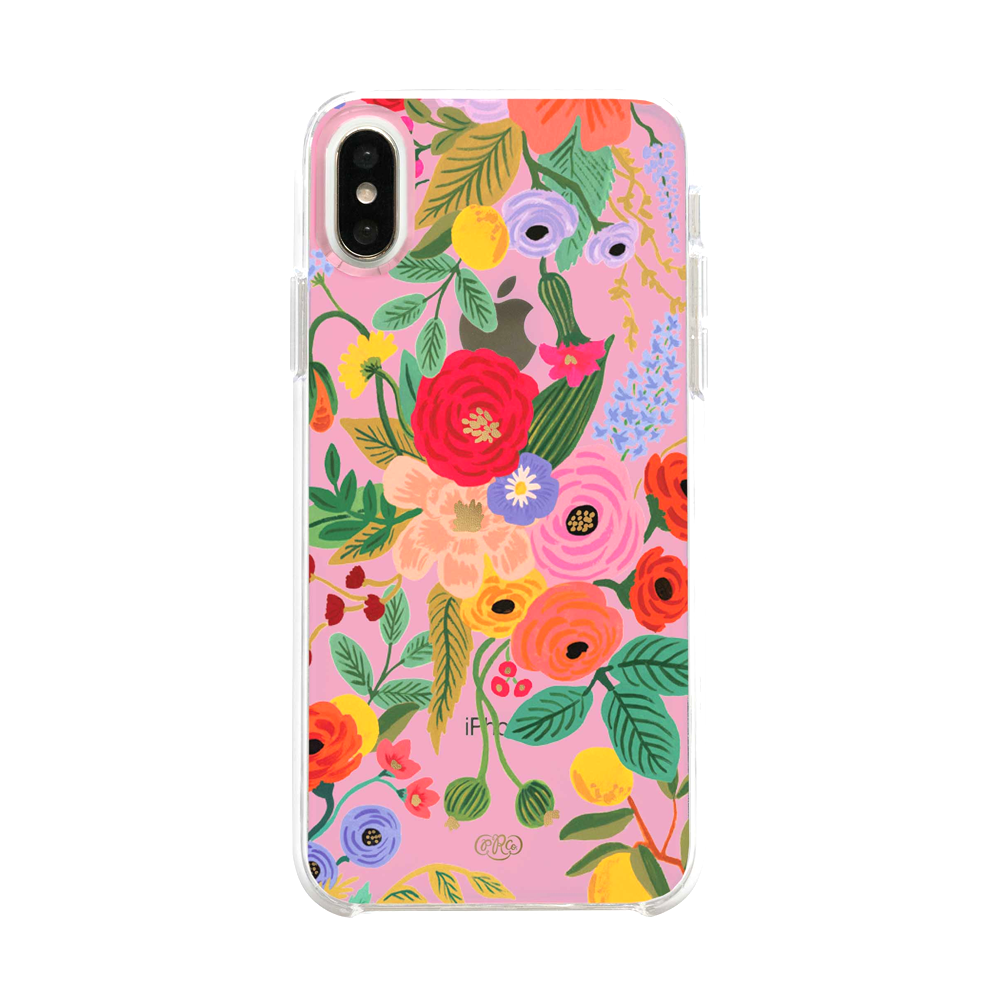 Rifle Paper Co iPhone X/XS Hard Case Clear Blush Garden Party