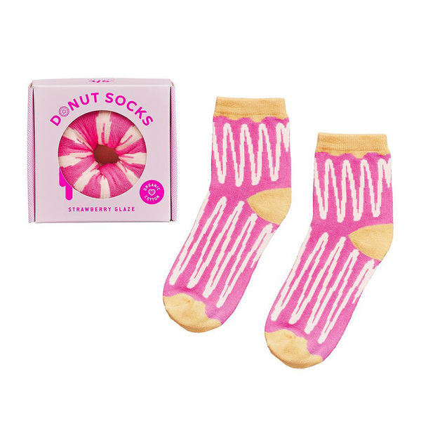 Yes Studio Donut Socks Strawberry Glaze