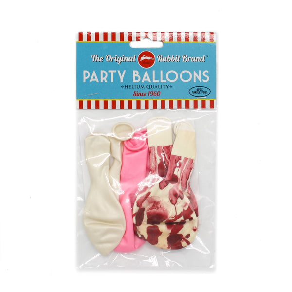 Marble Metallic Balloons Pink Pack of 6
