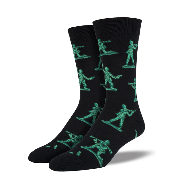 Socksmith Socks Mens Army Men Black