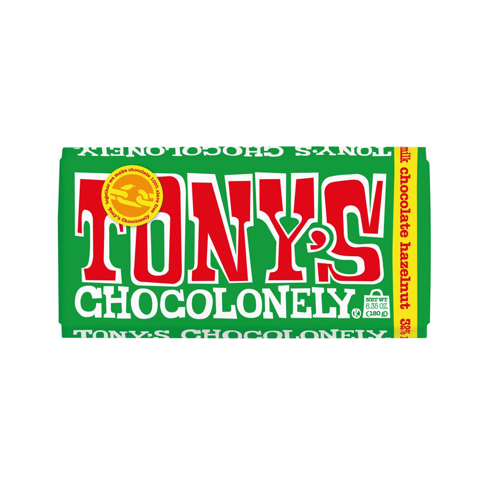 Tony's Chocolonely 180g Milk Chocolate Hazelnut