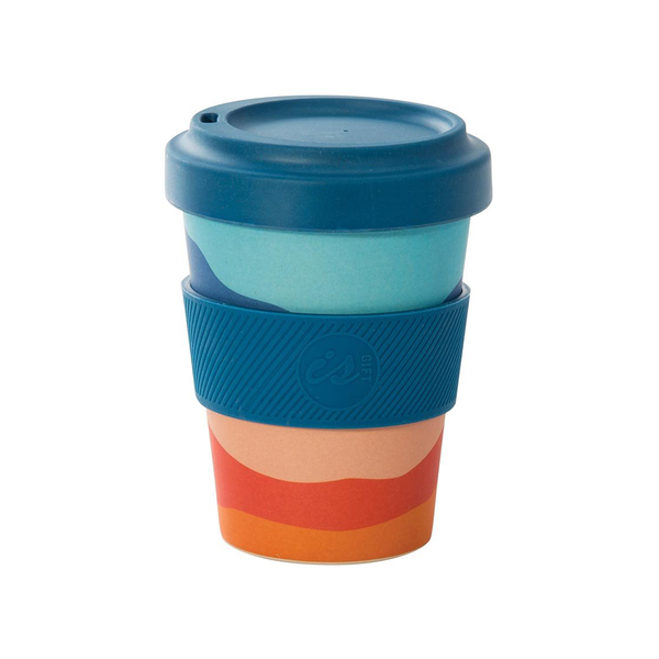 eCup Bamboo Abstract Tones Blue Lid