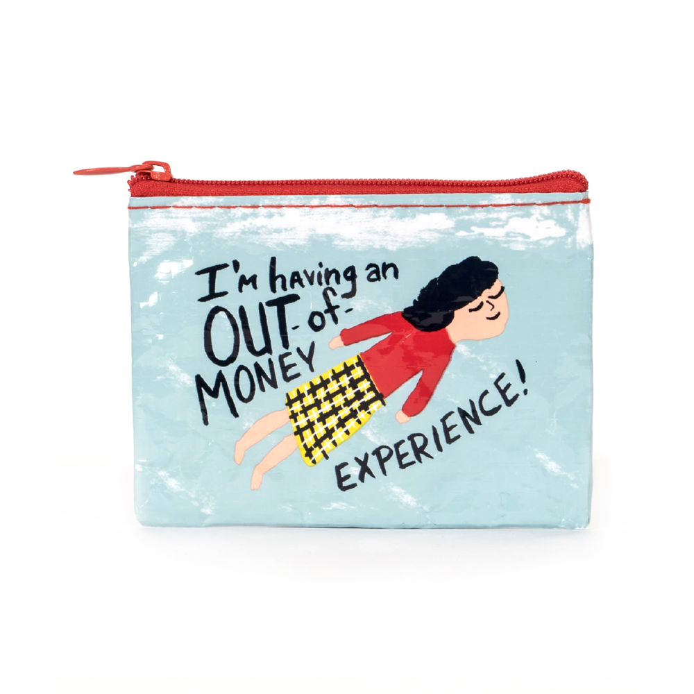 Blue Q Coin Purse Out of Money Experience