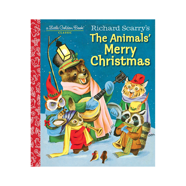 Little Golden Book Richard Scurrys The Animals Merry Christmas
