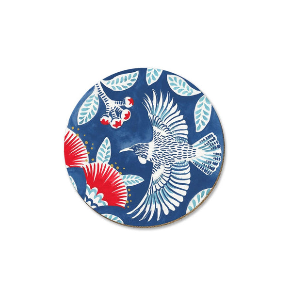 New Zealand Coaster Tui on Blue