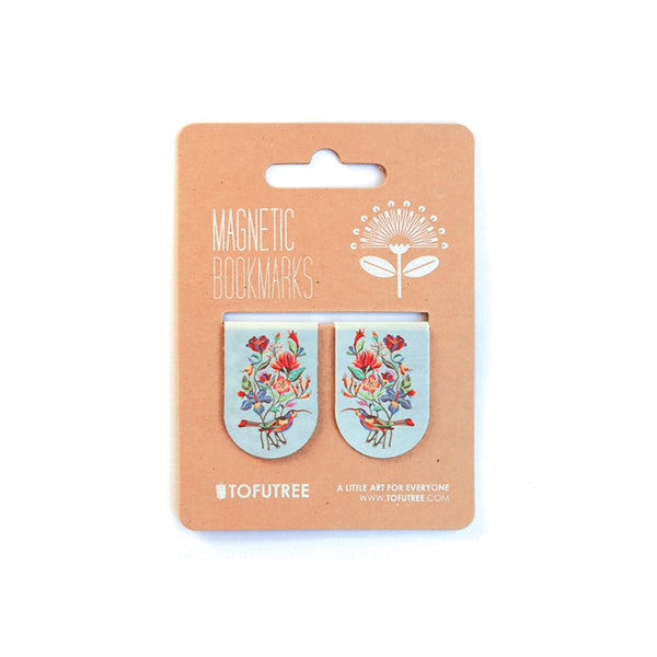 Tofutree Magnetic Bookmark Set Huia & Flora