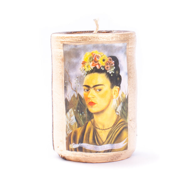 Mexican Clay Candle Frida