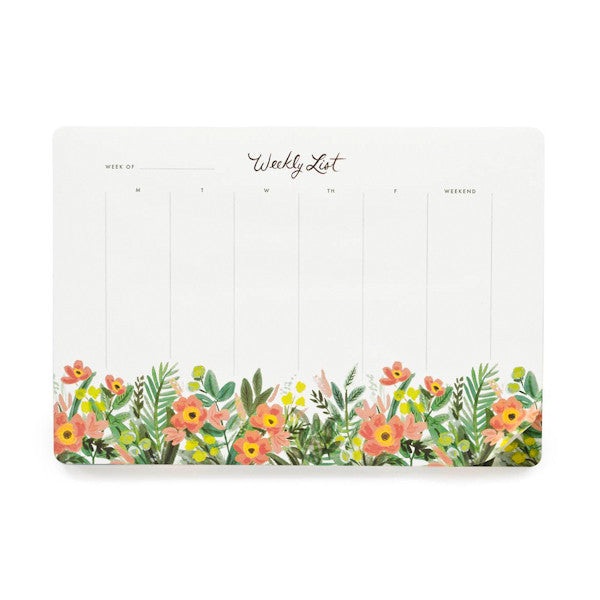 Rifle Paper Co Weekly Desk Pad Honeydew