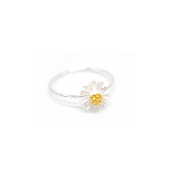 Iko Iko Ring Flower Silver with Gold