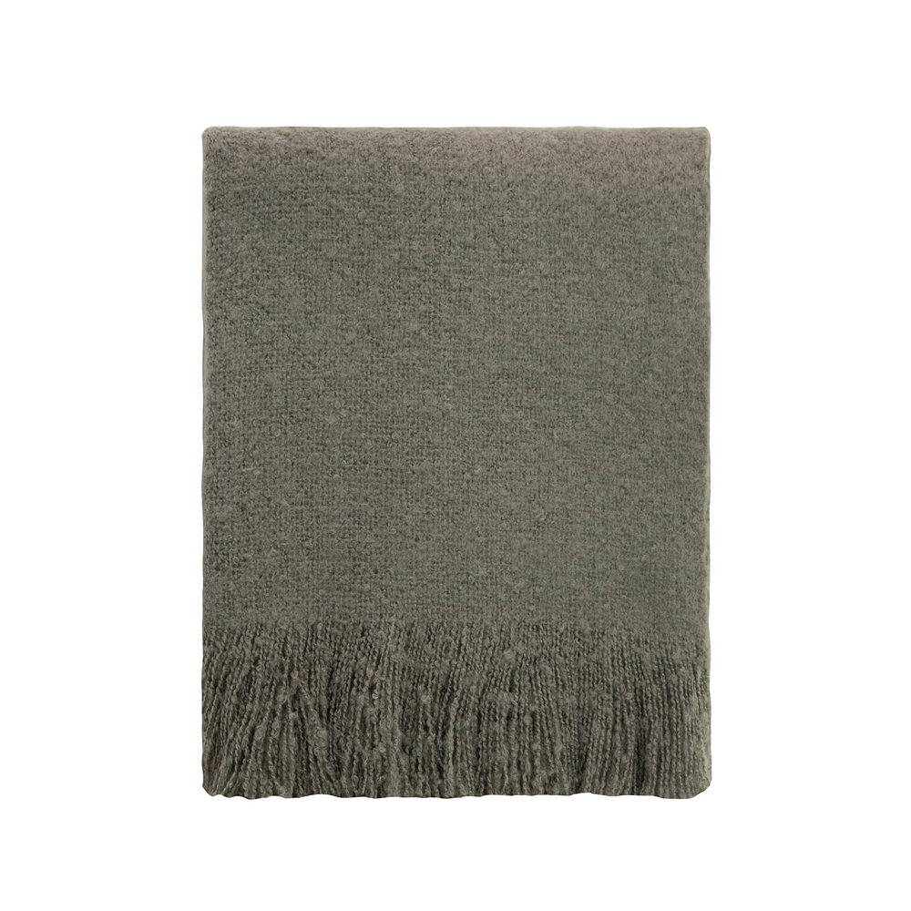 Linens & More Cosy Throw Charcoal