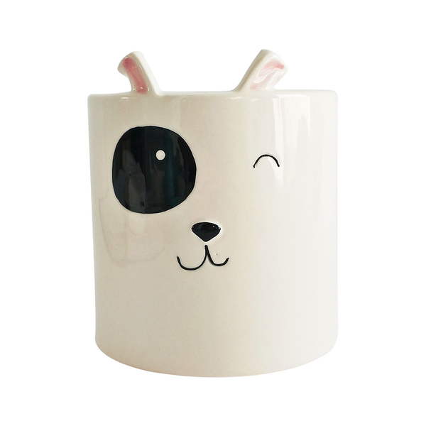 Dog Planter White Medium