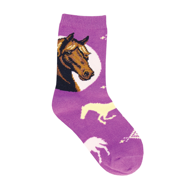 Socksmith Socks Kids Prancing Pony Purple