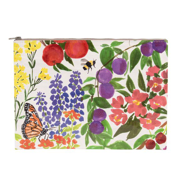 Blue Q Jumbo Zipper Pouch Orchard