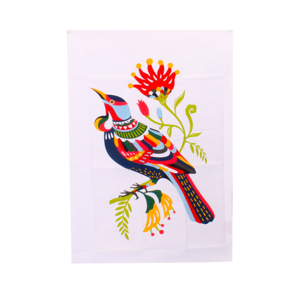Tofutree Tea towel Colourful Tui